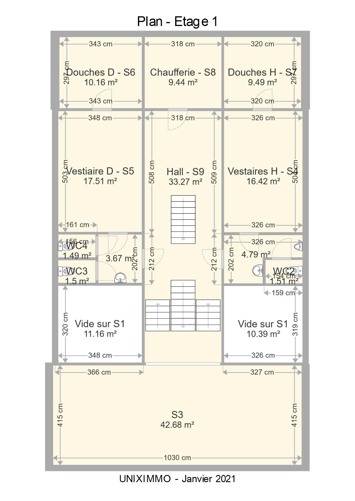 Plan de l'étage 1