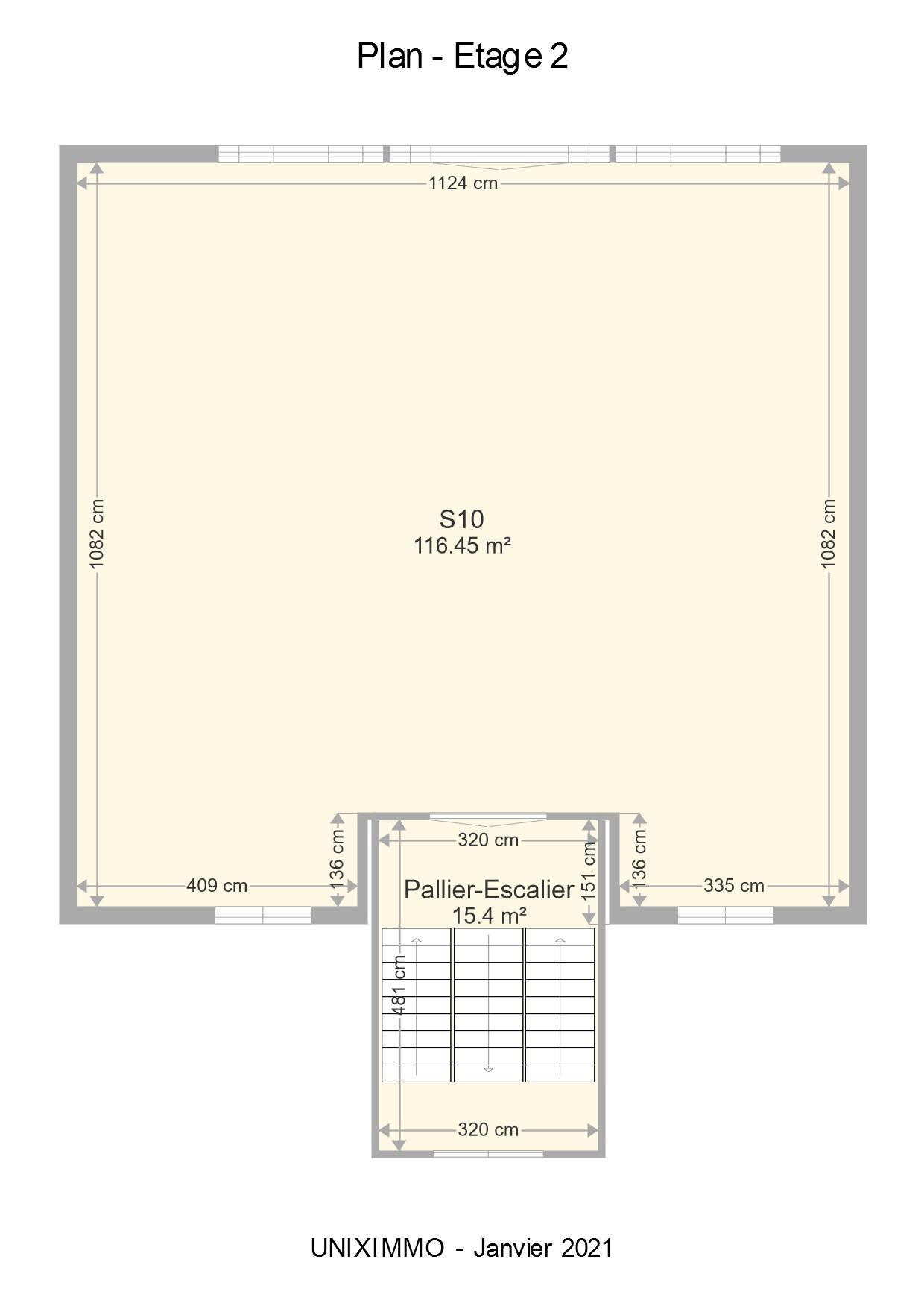 Plan de l'étage 2
